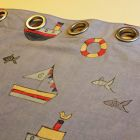 Eyelet headed children's curtains