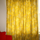Double pinch pleat lined curtain closed