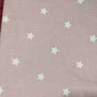 H. Pink with white stars   W138  L205